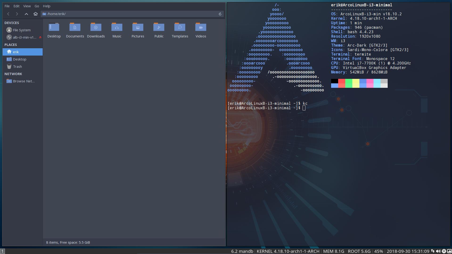 BYOI on ArcoLinux – i3 Minimal | Arcolinuxb com